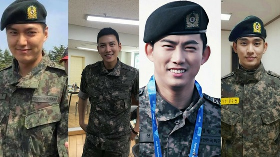 Image result for military enlistment korea artist